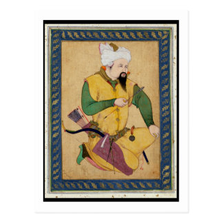 Carte Postale Un chef de Turkoman ou de mongole tenant une