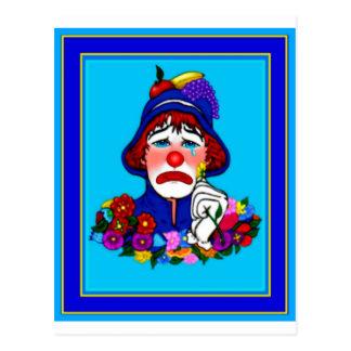 Carte Postale Un clown bleu