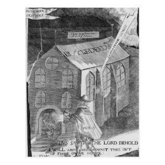 Carte Postale Un complot avec la poudre, 1605