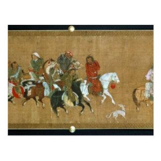Carte Postale Un convoi de Mongoles, Chinois, XIVème siècle