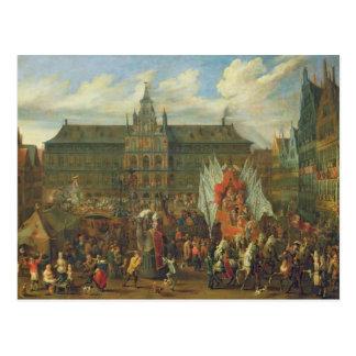 Carte Postale Un cortège à Anvers, 1697
