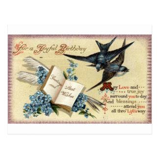 Carte Postale Un cru joyeux d'anniversaire Repro 1913