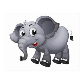 Carte Postale Un éléphant gris