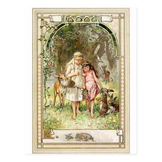Carte Postale Un endroit spirituel - contes de fées - blanc de