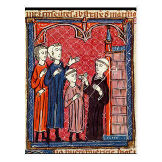 Carte Postale Un enfant amené à un monastère par ses parents