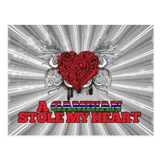 Carte Postale Un Gambien a volé mon coeur