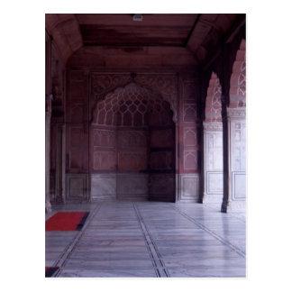 Carte Postale Un hall à l'intérieur du Jama Masjid
