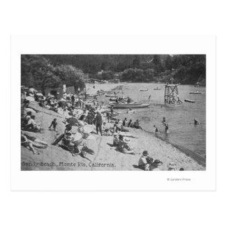 Carte Postale Un jour typique à la plage sablonneuse Monte Rio,