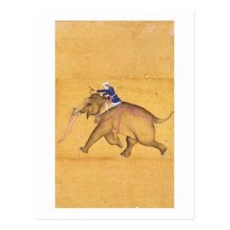 Carte Postale Un Mahout montant un éléphant, du grand Clive