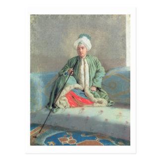 Carte Postale Un monsieur assis sur un divan