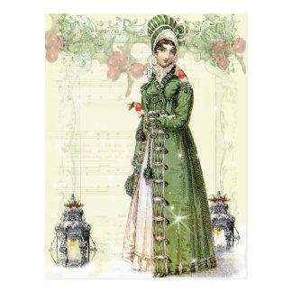 Carte Postale Un Noel joyeux - Jane Austen inspirés