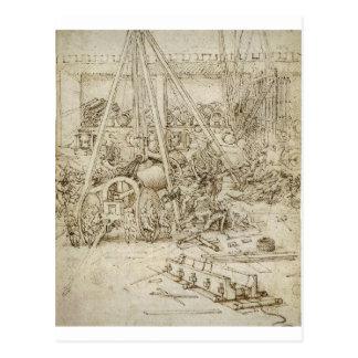 Carte Postale Un parc d'artillerie par Leonardo da Vinci