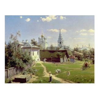 Carte Postale Un petit yard à Moscou, 1878