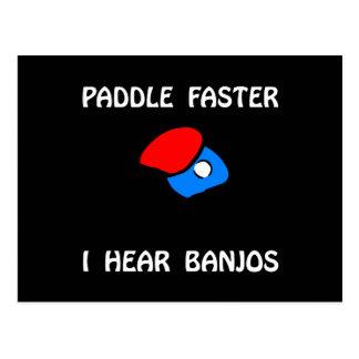 Carte Postale Un ping-pong plus rapide de palette