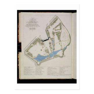 Carte Postale Un plan des jardins de Richard Grenville, duc o
