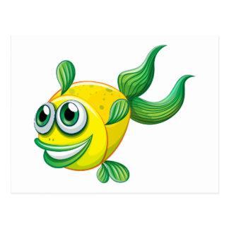 Carte Postale Un poisson laid
