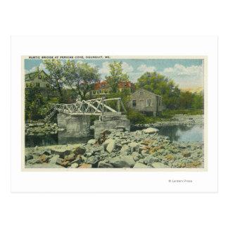 Carte Postale Un pont rustique à la scène de crique de Perkins