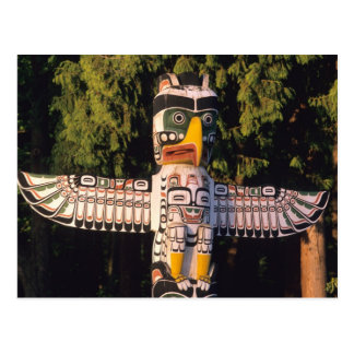 Carte Postale Un poteau de totem à Vancouver, Canada