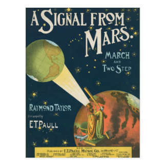 Carte Postale Un signal de Mars
