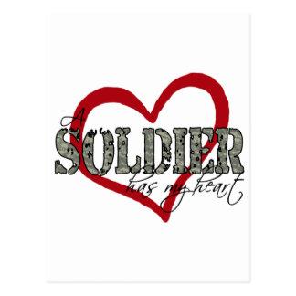 Carte Postale Un soldat a mon coeur