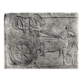 Carte Postale Un soulagement dépeignant l'armée assyrienne dans