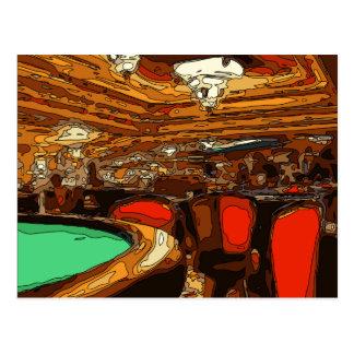 Carte Postale Un Tableau de Black Jack au coeur d'un casino de
