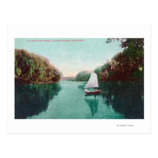 Carte Postale Un voilier sur la plume RiverMarysville, CA