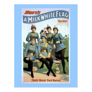 Carte Postale Une affiche vintage de théâtre du drapeau blanc