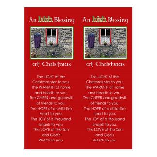 Carte Postale Une bénédiction irlandaise au signet de Noël