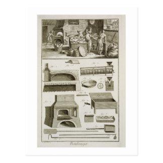 Carte Postale Une boulangerie et un équipement de cuisson, du