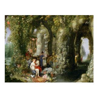 Carte Postale Une caverne fantastique avec Ulysse et calypso