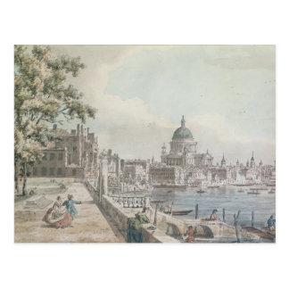 Carte Postale Une copie d'une partie d'un dessin par Canaletto,
