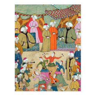 Carte Postale Une danse pour le plaisir du sultan Ahmet III
