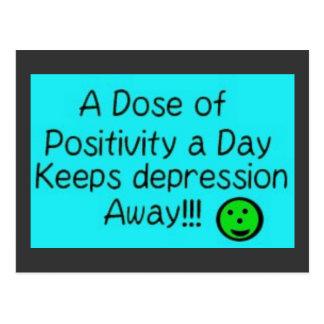 Carte Postale Une dose de positivité par jour, garde….