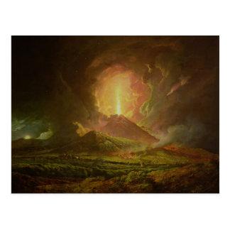 Carte Postale Une éruption du Vésuve, vue de Portici
