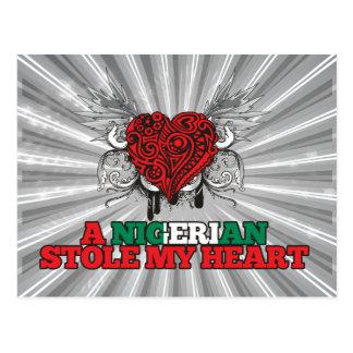Carte Postale Une étole nigérienne mon coeur