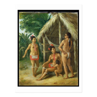 Carte Postale Une famille de Carib de l'Îles-Sous-le-Vent en
