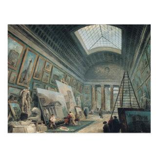 Carte Postale Une galerie de musée avec l'art romain antique