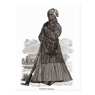 Carte Postale Une image de gravure sur bois de Harriet Tubman,