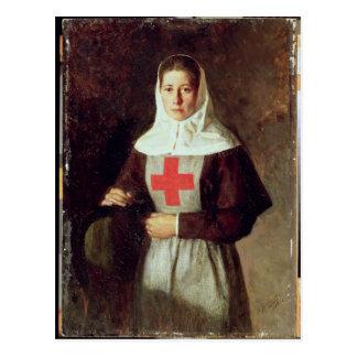 Carte Postale Une infirmière, 1886