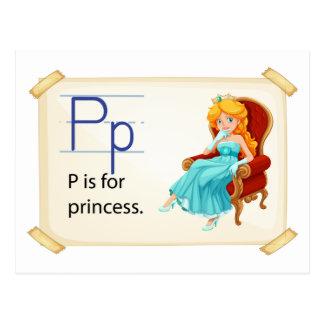 Carte Postale Une lettre P pour la princesse