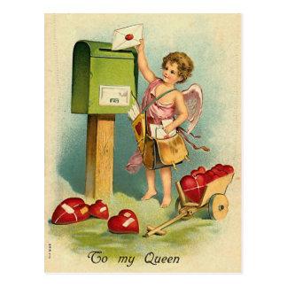 Carte Postale Une lettre pour ma reine