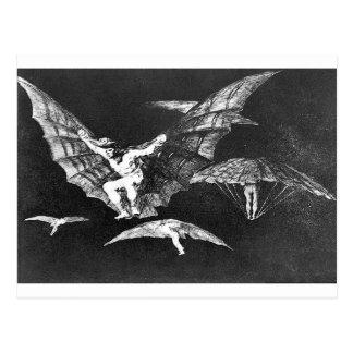 Carte Postale Une manière du vol par Francisco Goya