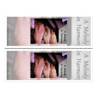 """Carte Postale """"Une mélodie en harmonie"""" par des signets d'Ashley"""
