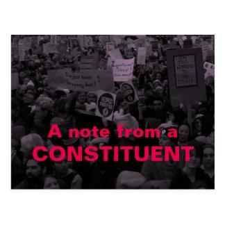Carte Postale Une note femmes constitutives du 10 mars /100