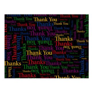 Carte Postale Une note reconnaissante pour exprimer le Merci
