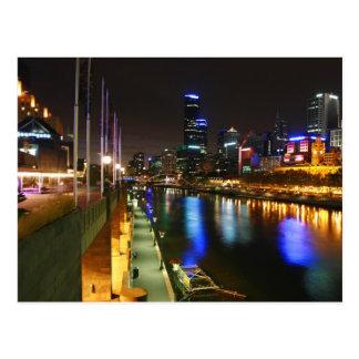 Carte Postale Une nuit à Melbourne