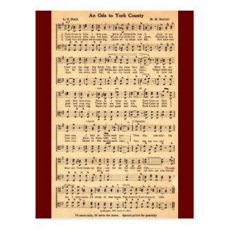 Carte Postale Une ode vers le comté de York dans la musique et