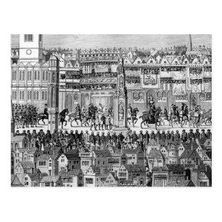 Carte Postale Une partie du cortège de couronnement