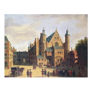Carte Postale Une place à Haarlem